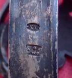 Зажим для галстука, платка, серебро 800, фото №9