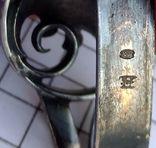 Зажим для галстука, платка, серебро 800, фото №11