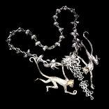 Серебряное ожерелье с натуральными Изумрудами., фото №4
