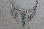 Серебряное ожерелье с натуральными Изумрудами., фото №5