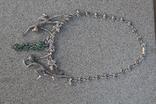 Серебряное ожерелье с натуральными Изумрудами., фото №6