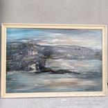 """Пейзаж """"Галльские сумерки""""51.5/76 см. м/к. 1970 год.С.А. Turchyn (England), фото №2"""