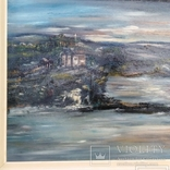 """Пейзаж """"Галльские сумерки""""51.5/76 см. м/к. 1970 год.С.А. Turchyn (England), фото №3"""