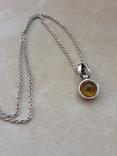 Серебрчный кулон с янтарем, на цепочке, фото №5