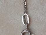 Серебрчный кулон с янтарем, на цепочке, фото №8