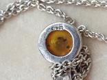 Серебрчный кулон с янтарем, на цепочке, фото №9