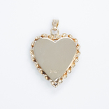 Золотой кулон-локет с бриллиантом, фото №3