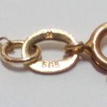Золотой кулон и кольцо с натуральным розовым кораллом, фото №7