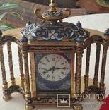 Годинник на камін в стилі КЛУАЗОНЕ., фото №4