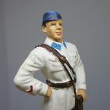 Лейтенант ВВС РККА в летней форме. 1941. Олово, раскрас, фото №4