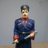 Офицер кубанских казачьих частей в парадной форме 1943-1945. Олово, раскрас, фото №3