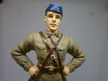 Офицер ВВС РККА в летней форме 1941. Олово, раскрас, фото №3