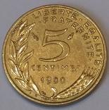 Франція 5 сантимів, 1980