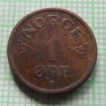 1  эре 1954  Норвегия  (,Р.5.18)~, фото №3