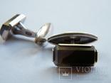Серебряные запонки 875 пр., фото №3
