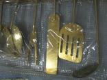Набор кухонный с декоративным покрытием под золото., фото №5