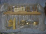 Набор кухонный с декоративным покрытием под золото., фото №7