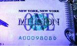 1000000 $ миллион долларов США USA банкнота купюра мільйон доларів фото 4