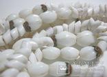 Бусы белый камень, фото №8