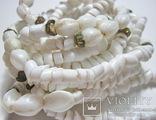 Бусы белый камень, фото №10