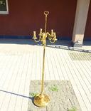 Элегантный торшер винтажного возраста, 5 лампочек, фото №5