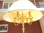 Элегантный торшер винтажного возраста, 5 лампочек, фото №7