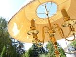Элегантный торшер винтажного возраста, 5 лампочек, фото №9