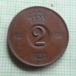 2  эре  1953  Швеция    (Р.7.34)~, фото №2