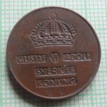 2  эре  1953  Швеция    (Р.7.34)~, фото №3
