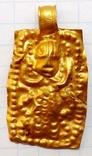 Золотая привеска ЧК с антропоморфным изображением, фото №2