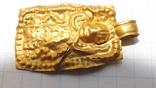 Золотая привеска ЧК с антропоморфным изображением, фото №4