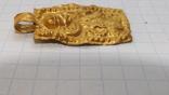 Золотая привеска ЧК с антропоморфным изображением, фото №10