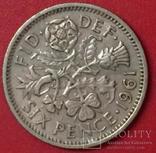 Великобританія 6 Pence 1961, фото №2