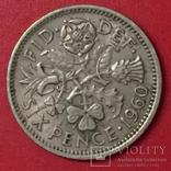Великобританія 6 Pence 1960, фото №2