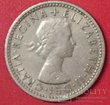 Великобританія 6 Pence 1960, фото №3