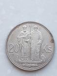 20 Крон 1941 Кирилл и Мефодий, Словакия, фото №2