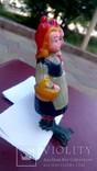 Елочная игрушка Девочка с корзинкой, Красная шапочка, фото №3