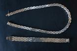 Колье и браслет Серебро 925. 77 грамм, фото №3