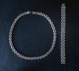Колье и браслет Серебро 925. 77 грамм, фото №4