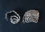 Колье и браслет Серебро 925. 77 грамм, фото №8