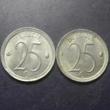 25 сантимів Бельгія 1972 (два різновиди), фото №2