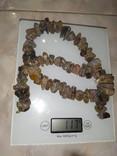 Янтарь бусы 117 грамм, фото №2
