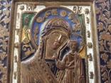 Икона Богородица, 5 цветов эмали, фото №4