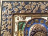 Икона Богородица, 5 цветов эмали, фото №6