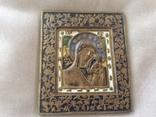 Икона Богородица, 5 цветов эмали, фото №2