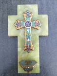 Бронзовый крест в эмалях, камень, фото №2