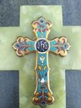 Бронзовый крест в эмалях, камень, фото №3