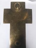 Бронзовый крест в эмалях, камень, фото №7
