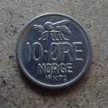 10 эре  1972  Норвегия  (К.28.7)~, фото №2