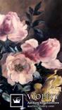 '' Букет роз''. Холст, масло. (50х40) П. Густов, фото №4